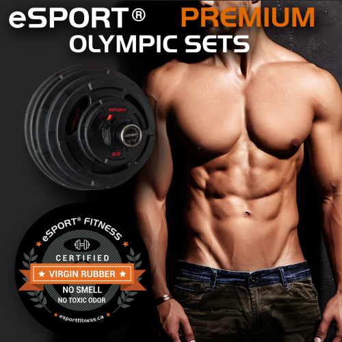 NEW eSPORT 290 LB PREMIUM SUPER OLYMPIC SETS VIRGIN RUBBER