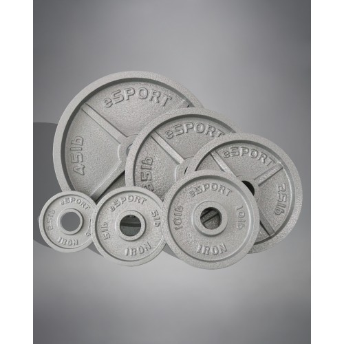 eSPORT IRON  Machined Olympic Plates 440lb Kit no bar or clips included