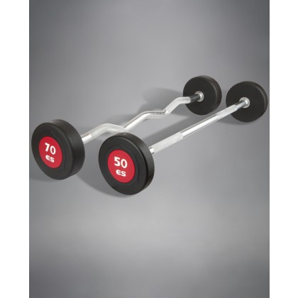 eSPORT FIXED STRAIGHT 10 BAR SET (URETHANE) BARBELLS 20lb – 110 lb