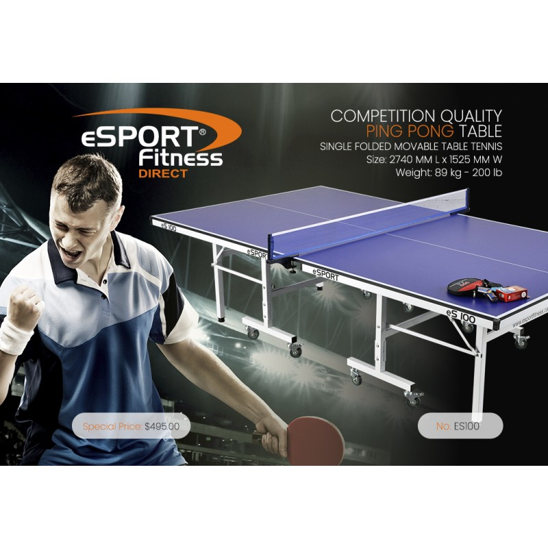 eS100 PREMIUM QUALITY PING PONG TABLE
