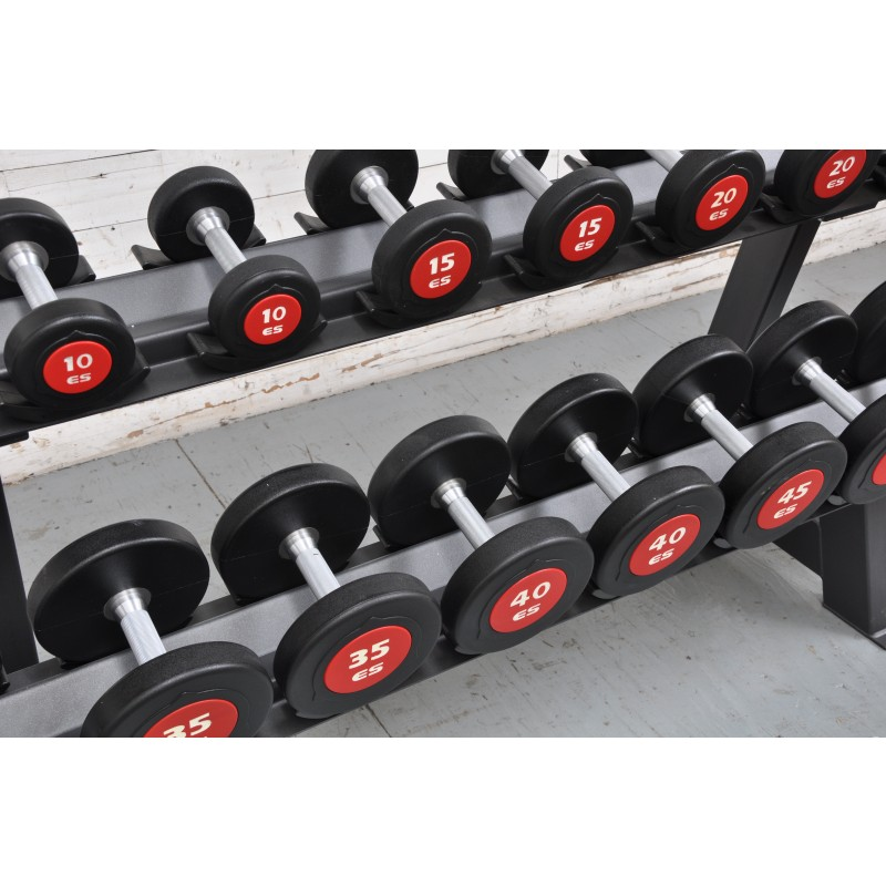 New Commercial eSPORT eS URETHANE DUMBBELL  SET 5-50lb With PRO DB RACK