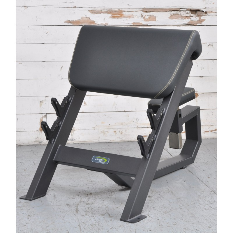 NEW eSPORT Fitness COMMERCIAL Seated Preacher Curl Arm Bench
