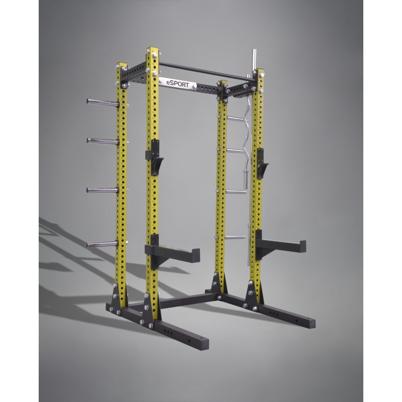 "SQUAT RACK IRON BULL 300  3"" x 3"" GAGE 11 (BLACK AND YELLOW)"