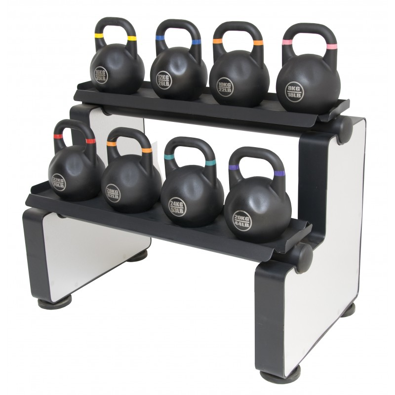 FREE SHIPPING eSPORT COMPETITION KETTLEBELLS SET Of  8 + DELUX RACK