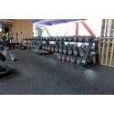 GYM FLOORING VIRGIN RUBBER 0 SMELLING  GARAGE GYM, FITNESS ROOM, COMMERCIAL GYM